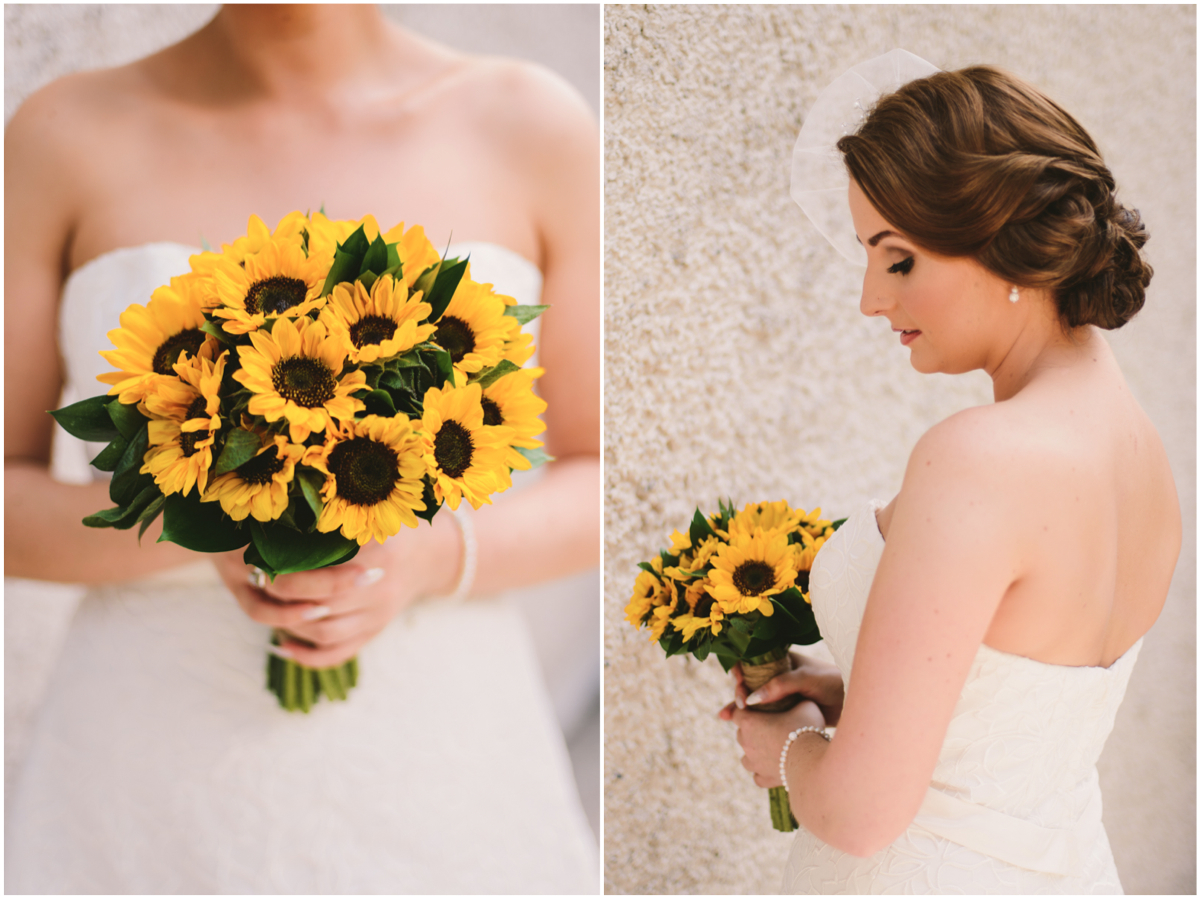 05 sunflower bouqet bridal hair