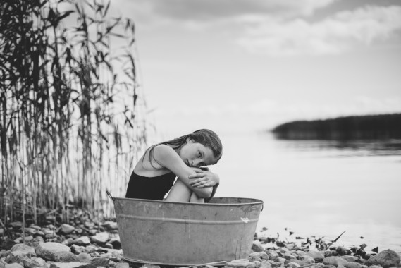 Countryside summer holiday, portrait photography