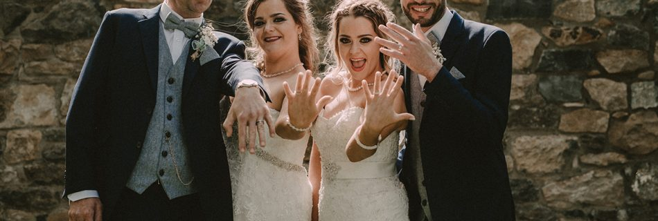 Mairead & Robert, Siobhan & Tommy: double wedding in Raheen House, Clonmel, Co. Tipperary